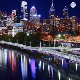 Frozen in Time Fine Art Photography - Full Moon Over Philly