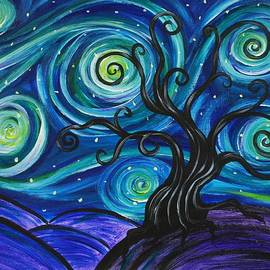 Emily Page - Funky Tree, Starry Night