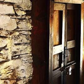 Kim Bemis - A Wooden Door in Gagnani India