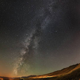 Brian Ball - Galena Creek Bridge Under Summer Sky Filled with Milky Way and Mt. Rose in the Background