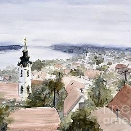Nenad Kojic - Gardos view 2 Zemun Serbia - original watercolor art by Nenad Kojic