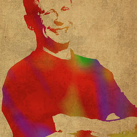 Gary Johnson Libertarian Politician Watercolor Portrait - Design Turnpike