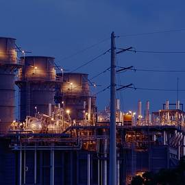 Bradford Martin - Gas Power Plant at Night