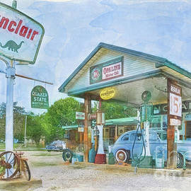 Priscilla Burgers - Gay Parita Sinclair Station Digital Painting