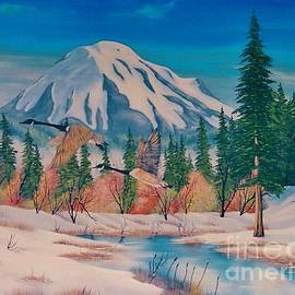 Duane West - Geese and Mount St Helens