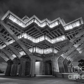 Eddie Yerkish - Geisel Library in Black and White