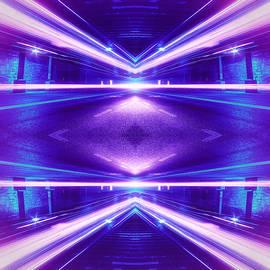 Philipp Rietz - Geometric Street Night Light Pink Purple Neon Edition