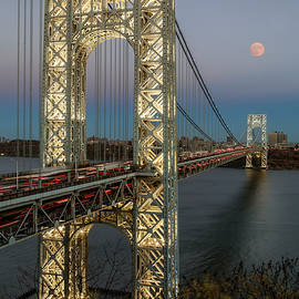 Susan Candelario - George Washington Bridge Moon Rising
