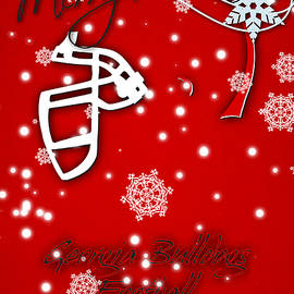 GEORGIA BULLDOGS CHRISTMAS CARD - Joe Hamilton