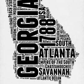 Georgia Word Cloud Map 2 - Naxart Studio