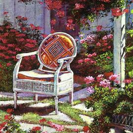 David Lloyd Glover - Geraniums And Wicker