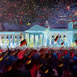 M Bleichner - German Reunification Party in Berlin with Firework