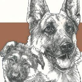 Barbara Keith - German Shepherd Father and Son