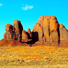 Barbara Zahno - Giant Rocks on the Way to Monument Valley