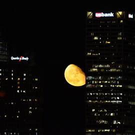 Karen Majkrzak - Gibbous Moon in Milwaukee