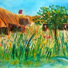 Gary Kirkpatrick - Giethoorn- Two Houses Thatched Roofs