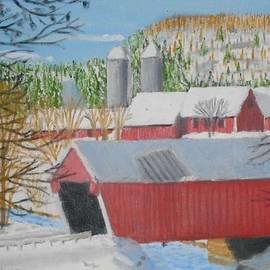 Jack McKenzie - Gifford Covered Bridge in Winter