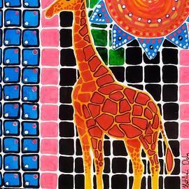 Dora Hathazi Mendes - Giraffe in the Bathroom - Art by Dora Hathazi Mendes