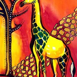 Dora Hathazi Mendes - Giraffe with fire