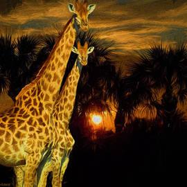 EricaMaxine  Price - Giraffes in the Sunset