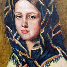 Elena Sokolova - Girl in a kerchief