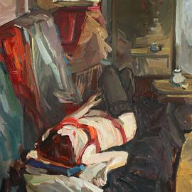Juliya Zhukova - Girl in red lingerie