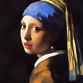 Tracey Harrington-Simpson - Girl with a Pearl Earring After Johannes Vermeer