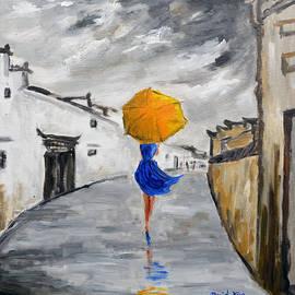 Daniel Xiao - Girl with a Yellow Umbrella