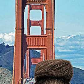 Jim Fitzpatrick - Girl with Bangs and Her Hair in a Bun by the Golden Gate Bridge