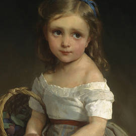 Girl with Basket of Plums - Emile Munier