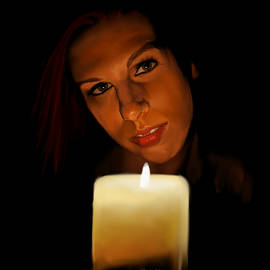 Myke  Irving - Girl with candle