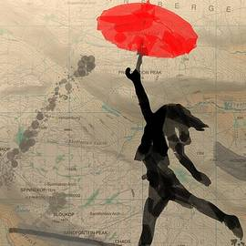 Girl with Red Umbrella