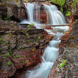 Andres Leon - Glacier National Park Waterfall 2