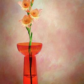 Kaye Menner - Gladioli Still Life I by Kaye Menner