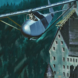Glider escape from Colditz Castle - Wilf Hardy