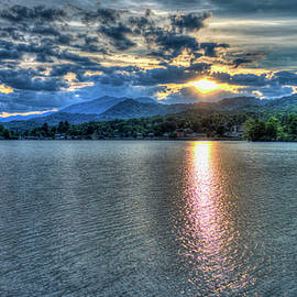 Reid Callaway - Glorious Lake Junaluska Sunset Blue Ridge Mountains North Carolina