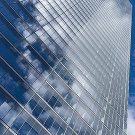Georgia Mizuleva - Glossy Glass Reflections - Skyscraper Geometry With Clouds - Right