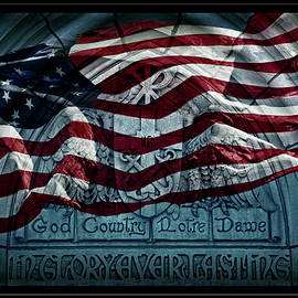 John Stephens - God Country Notre Dame American Flag