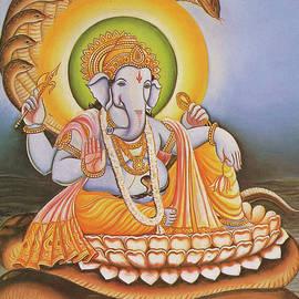 Jagannath - God Ganesha, Ganapati, Gajanan, Vinayak, Miniature Painting of India, Online art gallery.