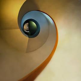 Jaroslaw Blaminsky - Golden and brown spiral staircase
