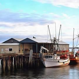 Barbara Snyder - Golden Dolphin Eel Fishing Boat Port Angeles Washington Painting