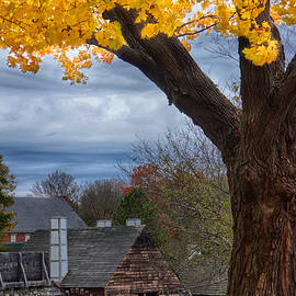 Jeff Folger - Golden fall colors over iron works