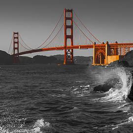 Scott Campbell - Golden Gate Bridge Sunset Study 2 BW