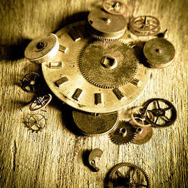 Golden industry gears  - Jorgo Photography - Wall Art Gallery