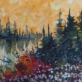 David K Myers - Golden Pond, Watercolor Painting