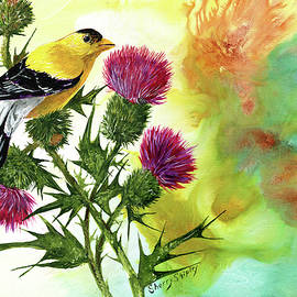 Sherry Shipley - Goldfinch with Thistles