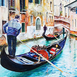 Steve James - Gondola on the Grand Canal, Venice, Italy