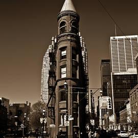 Brian Carson - Gooderham Flatiron Building Toronto Canada Sepia Version