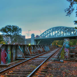 Joann Vitali - Graffiti on Train Tracks Under the BU Bridge - Cambridge