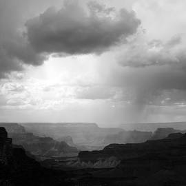 Tammy Winand - Grand Canyon National Park Storm Clouds Black and White
